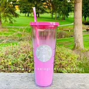🦄NEW RARE🦄Starbucks Frosted Strawberry Pink Cup
